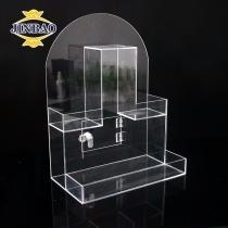 China JINBAO 7 Days arrange shipping transparent round clear acrylic flowers box on sale