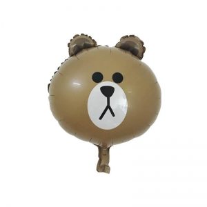 China Line Friends Cartoon Brown Bear Mini Balloon For Decoration on sale