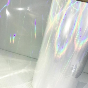 China China Transparent Holographic Film Self Adhesive Plastic Film on sale