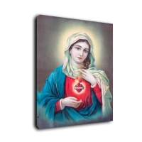 China Virgin Mary Print Art Painting With LED Light Decor Flickering Canvas Wall Picture on sale