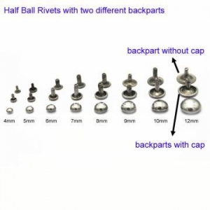China Black Nickle Brass Half Ball Rivets Studs on sale
