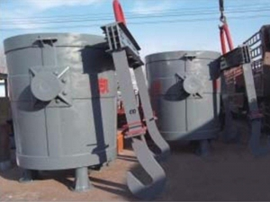 China Xiangdian Changsha pump 20tons double slide gate steel ladle on sale