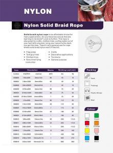 China Cotton Twine Nylon Solid Braid Rope POLYPROPYLENE on sale