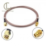 RP SMA Female to RP SMA Plug Cable RG-316 Coax and RoHS