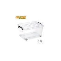 High Quality multi-purpose 27L houseware Hard Plastic Storage Container