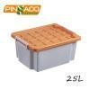 China Customizes 25L Multi Function Plastic Storage Box, Household Hard Plastic Box with Lid on sale