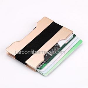 China Carbon Fiber Wallet Wholesale Metal Credit Card Wallet RFID Aluminium Credit Card Holder on sale