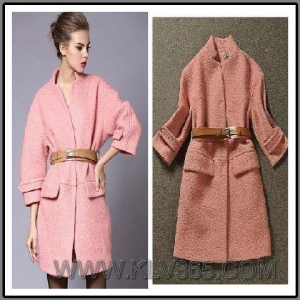 China Wholesale Designer Women Winter Wool Long Coat on sale