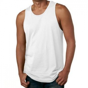 China Mens Blank Tank Top Vest Men White Tank Top Cotton on sale