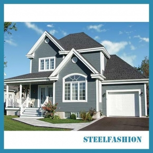 China American style light steel frame building with garage on sale