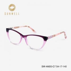 China Women acetate optical frame china wholesale optical eyeglasses frame ready goods spectacles on sale