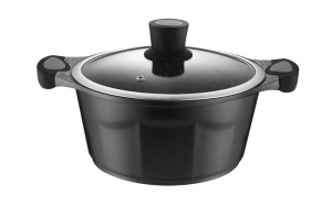 China Black Die-Cast Aluminum Kitchen Cookware Pots on sale