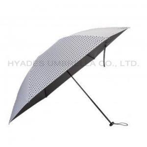 China Lightweight Houndstooth Check Women's Folding Umbrella on sale