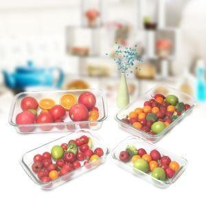 China 800ml Glass Meal Prep Food Storage Containers With Lid on sale