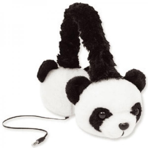 China factory supply plush Panda headphone for Kids on sale