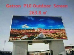 China P10 Pantalla RGB Full Color SMD Outdoor SMD LED Display High Contrast on sale