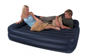 China inflatable Couples resort bed,flocked inflatable sofa bed,co on sale