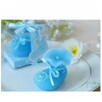China New creative promotion gift product wedding gift festival baby shoes party candle on sale