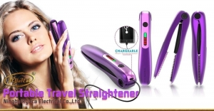 China Hair Straightener and Hair Curler 20W ceramic portable travel usb capable charger... on sale