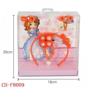 China CH-F8009 Cute European girl pearl hair hoop bobby pin gift sets wholesale on sale