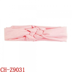 China CH-Z9031 Coloful girl soft headbands with bow knot elastic baby headband wholesale on sale