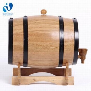 China 1.5l Wood Bar Wine Oak Barrel,Bar Decorations Barrels Oak Barrel Stand,Wine Barrel Furniture on sale