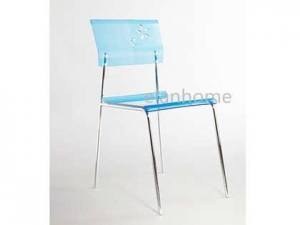 China blue acrylic dining chair on sale