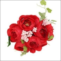 China Artificial flower Peony Bush for Wedding Decoration Flower on sale