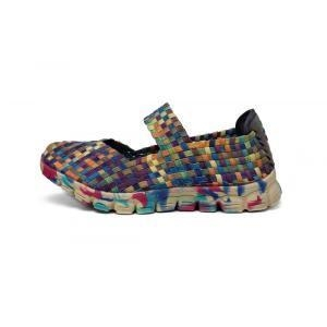 China Stylish And Cool Multi-color Woven Belt Dance Shoes on sale
