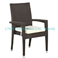China Garden Chairs Garden Furniture Rattan Armchair Stackable Chair on sale