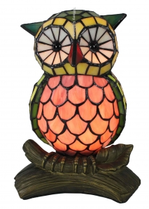 China LAMP BASE SM079 owl tiffany accent lamp on sale