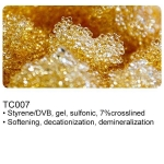 TC007 strong acid cation ion exchange resin