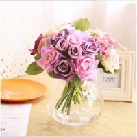 China Mini Indian Roses Artificial Flower For Home Decoration on sale
