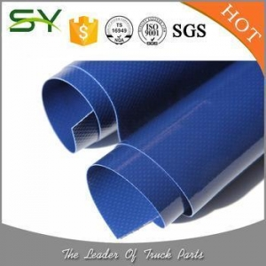 China 18oz 100% Polyester PVC Tarp Vinyl Coated Tarpaulin Fabric Roll on sale