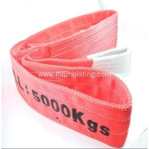 China 8T Polyester webbing sling lifting sling belt on sale