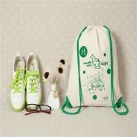 Cotton-Canvas Drawstring Bags Factory audit custom eco-friendly school sport bag