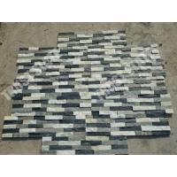 Black And White Color Quartzite Ledgestone Veneer Wall Fireplace Ledgestone Designs