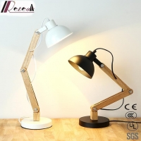 Simple Design Retro Wooden Black Small Lamp Table for Living Room