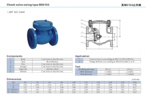 China CHECK VALVE SWING TYPE BS 5153 on sale
