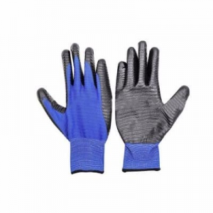 China rubber coated cotton glove Nylon Coated rubber nitrile gloves on sale