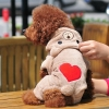 China Heart Pattern Bear Puppy Costume for sale