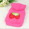 China Strawberry Pattern Dog Hoodie for sale