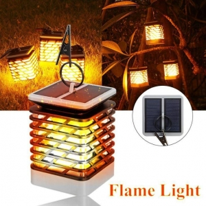 China Waterproof Outdoor Garden Light Solar Candle Flame Lamp on sale