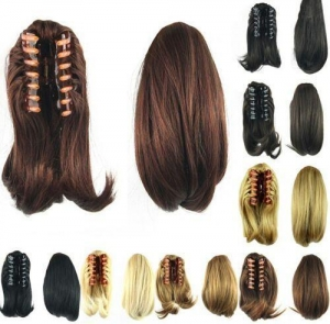 China Human hair Clip In Pony Tail Hair Extensions on sale