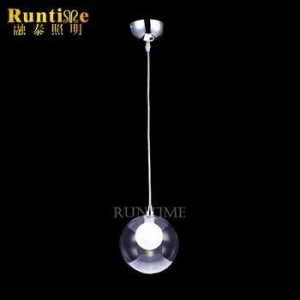 China new products small clear glass ball pendant lamps, simple design dinning table lighting on sale