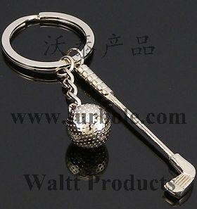 China Golf Sports Keychains, Golf Ball Keychains, Golf Bar Keychains on sale