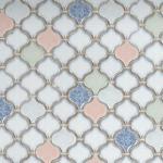 China supplier color ceramic arabesque lantern mosaic tile