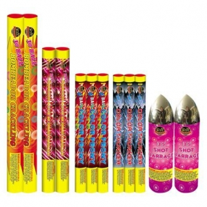 China Small Roman Candles Tri-Candle Barrage on sale