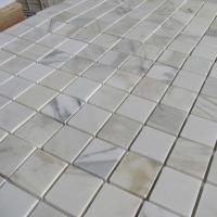 Mosaic & Medallion BWM029 Calacatta Gold Marble Square Mosaic Tiles
