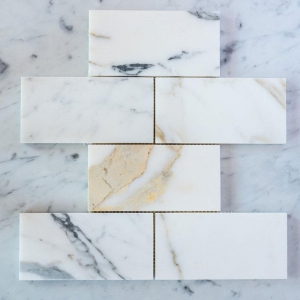China Mosaic & Medallion BWM030 Calacatta Gold Marble Subway Brick Tiles on sale